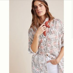 Anthro • Enchanted Floral Buttondown